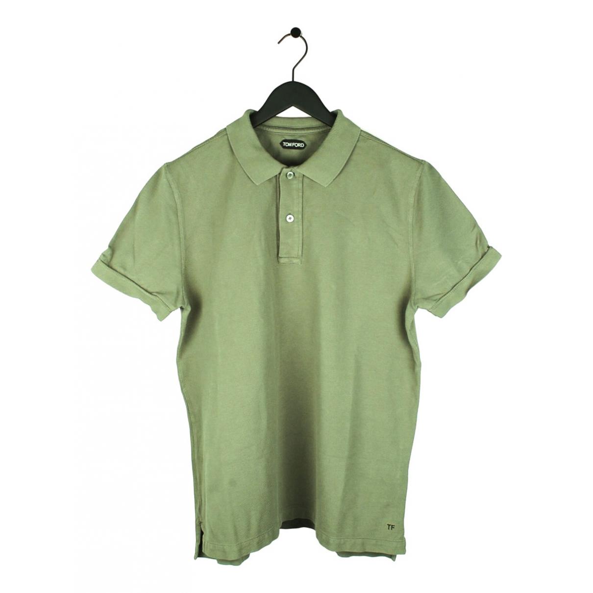 Tom Ford \N Poloshirts in  Khaki Baumwolle