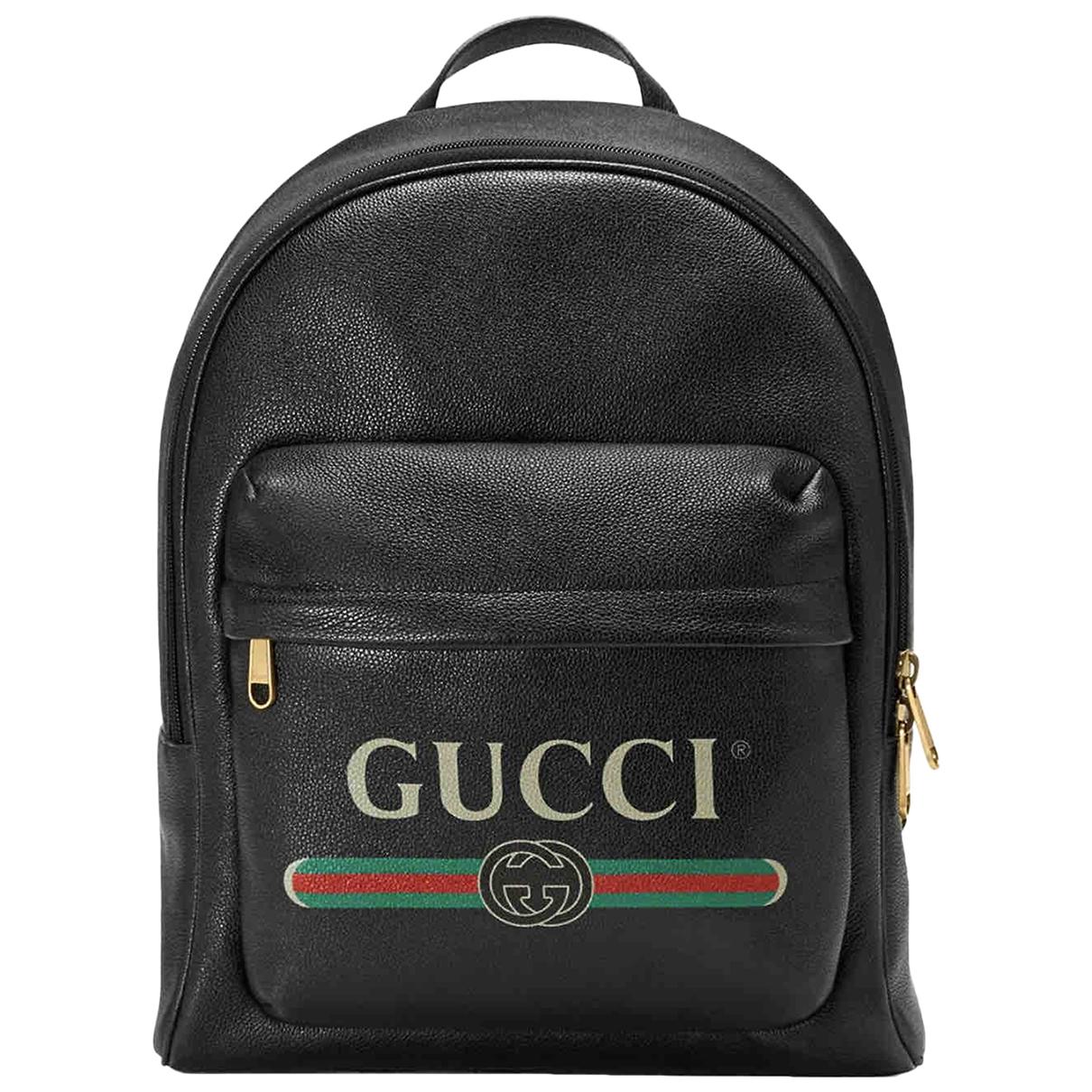 Mochila de Cuero Gucci
