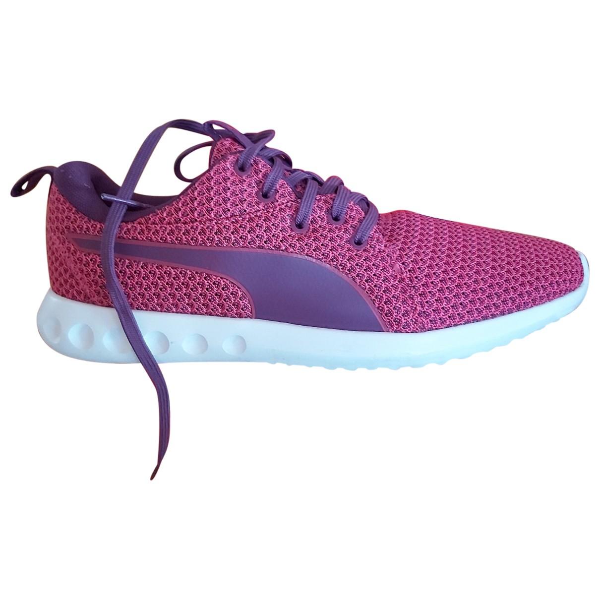Puma \N Sneakers in  Lila Leinen