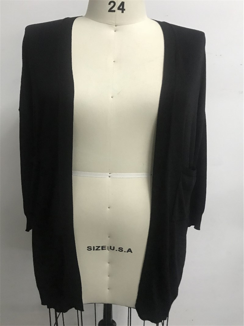 Ericdress Regular Pocket Long Sleeve Straight Sweater