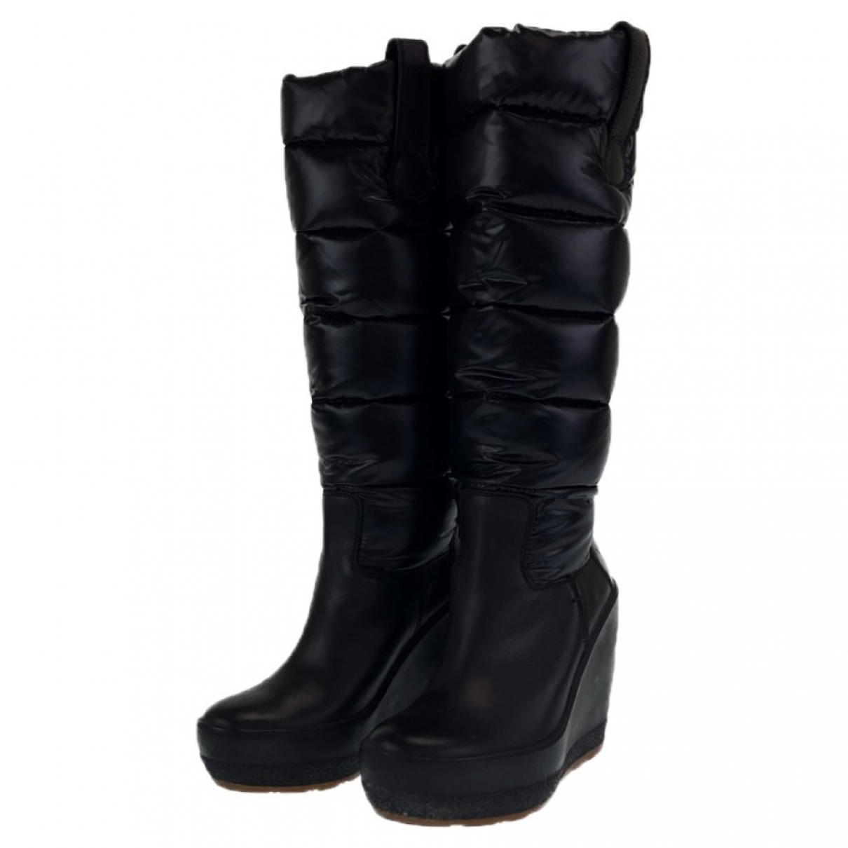 Moncler \N Leather Boots for Women 39 EU