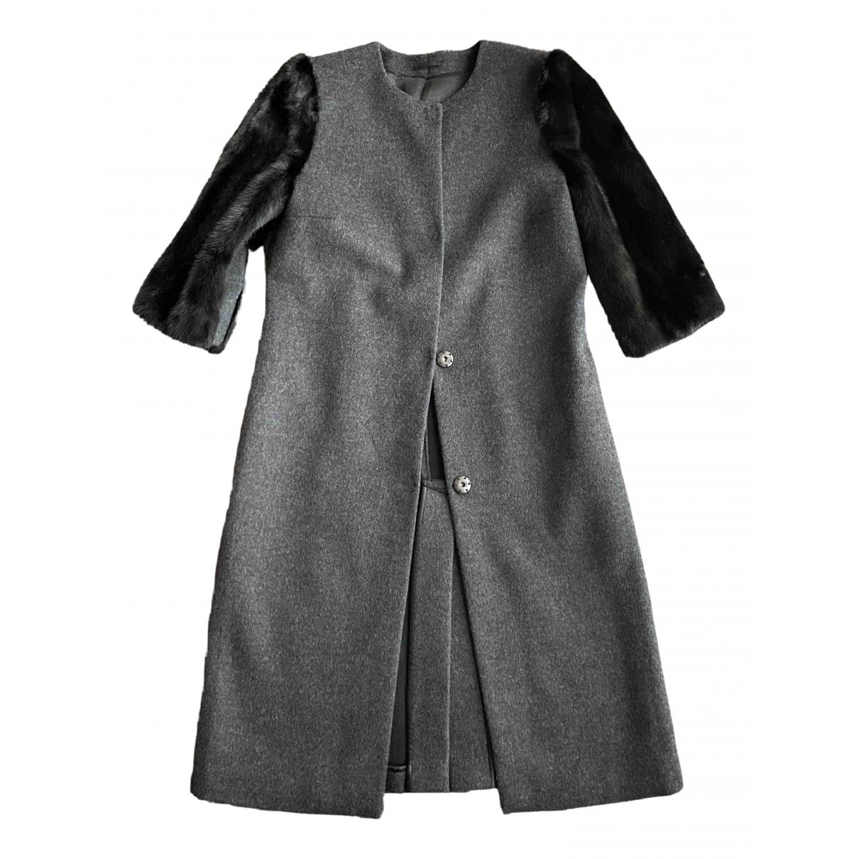 Parosh - Manteau   pour femme en laine - gris