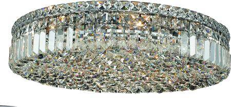 V2030F24C/SS 2030 Maxime Collection Flush Mount D:24In H:5.5In Lt:9 Chrome Finish (Swarovski   Elements