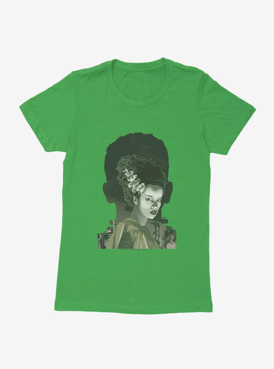 Universal Monsters Bride Of Frankenstein Shadows Womens T-Shirt