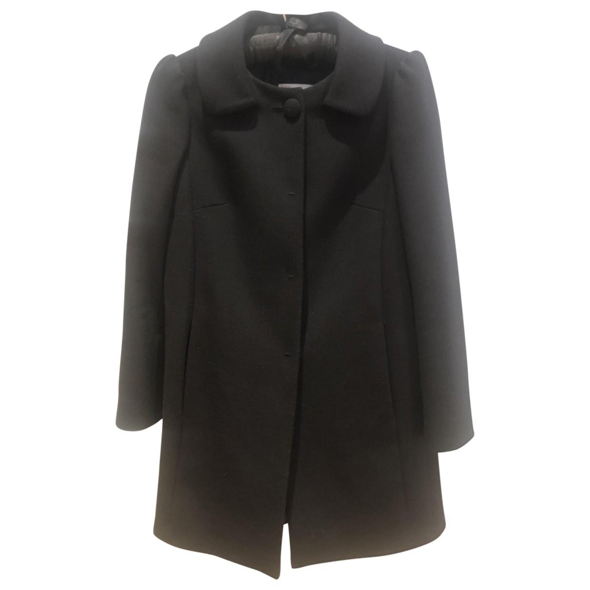 Red Valentino Garavani - Manteau   pour femme en laine - noir