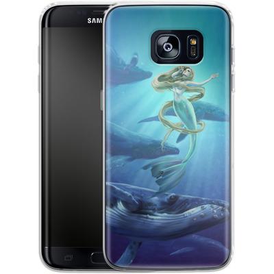Samsung Galaxy S7 Edge Silikon Handyhuelle - Ocean Song von Selina Fenech