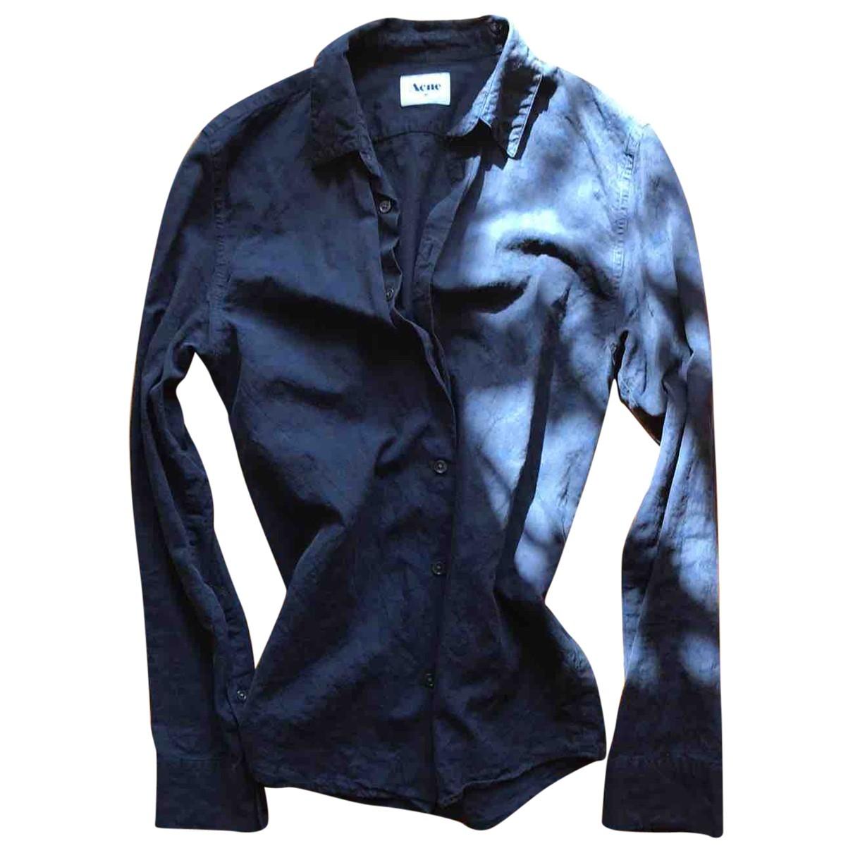 Acne Studios \N Navy Cotton Shirts for Men S International