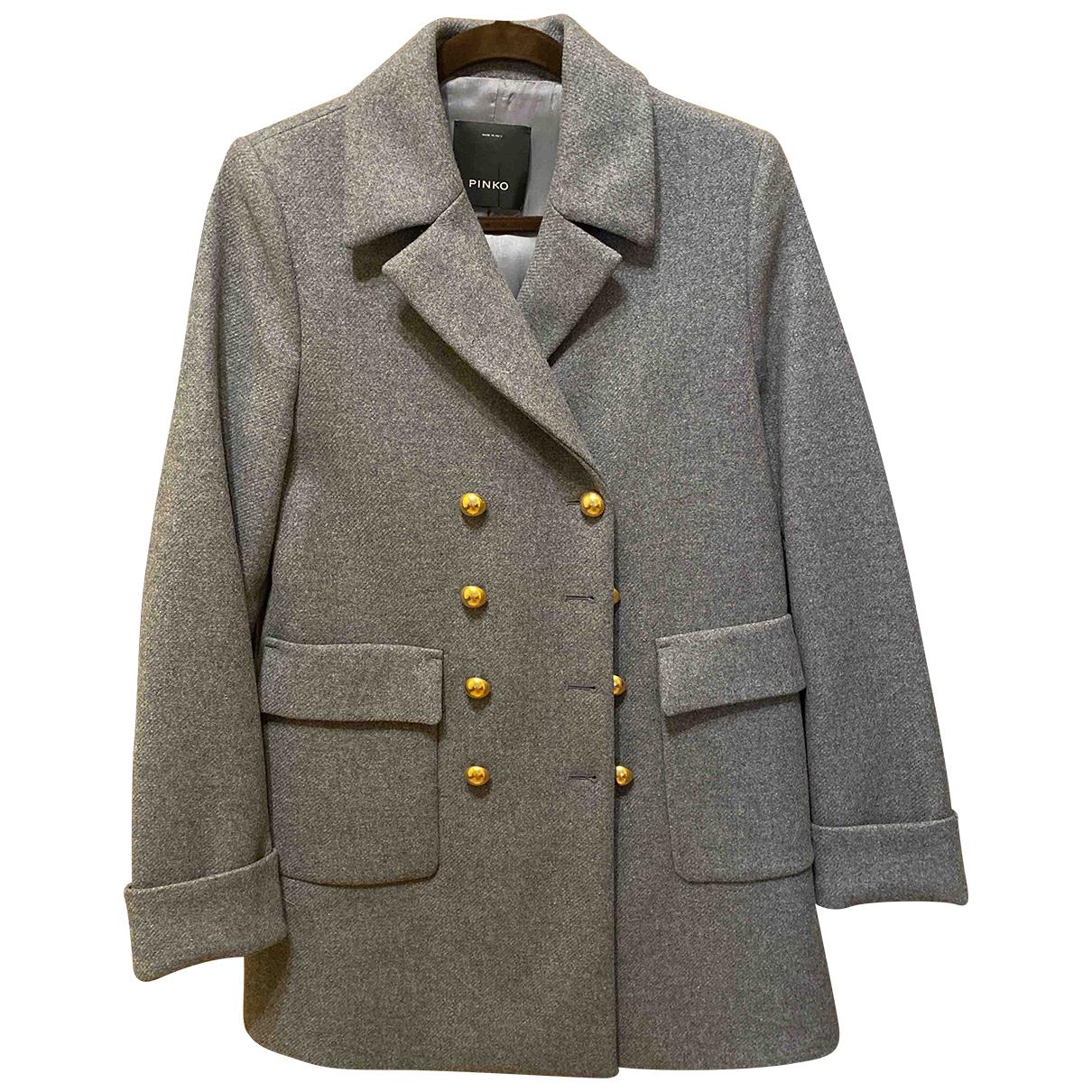Pinko - Manteau   pour femme en laine - gris