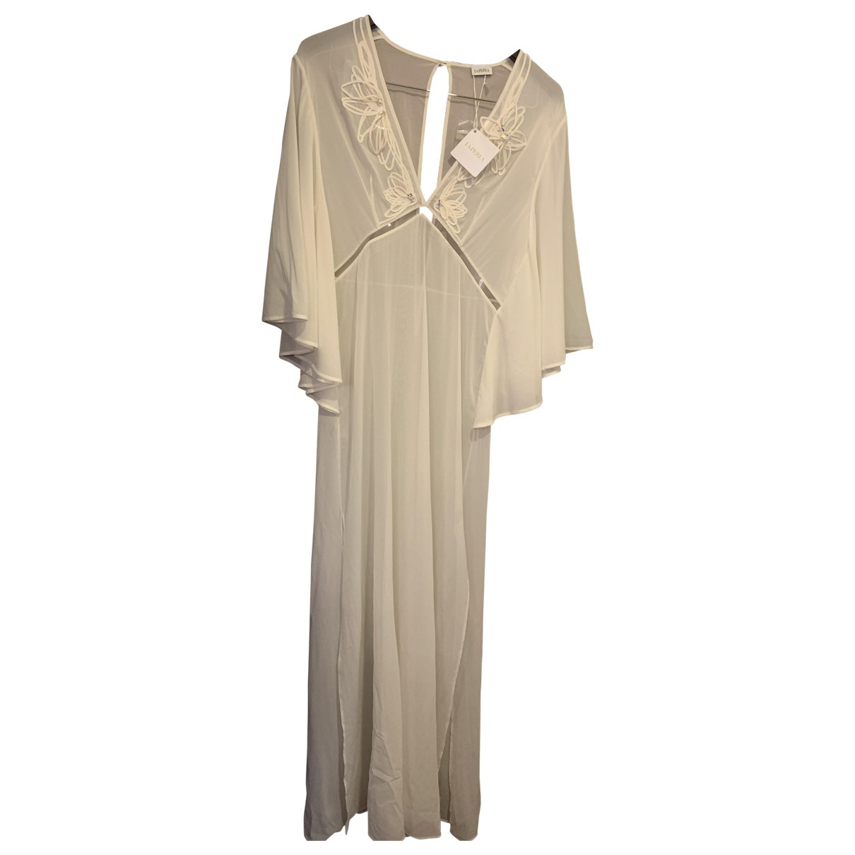 La Perla \N White Silk dress for Women 36 FR