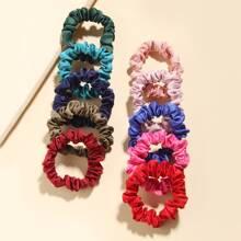 10 Stuecke Einfarbiger Haarband