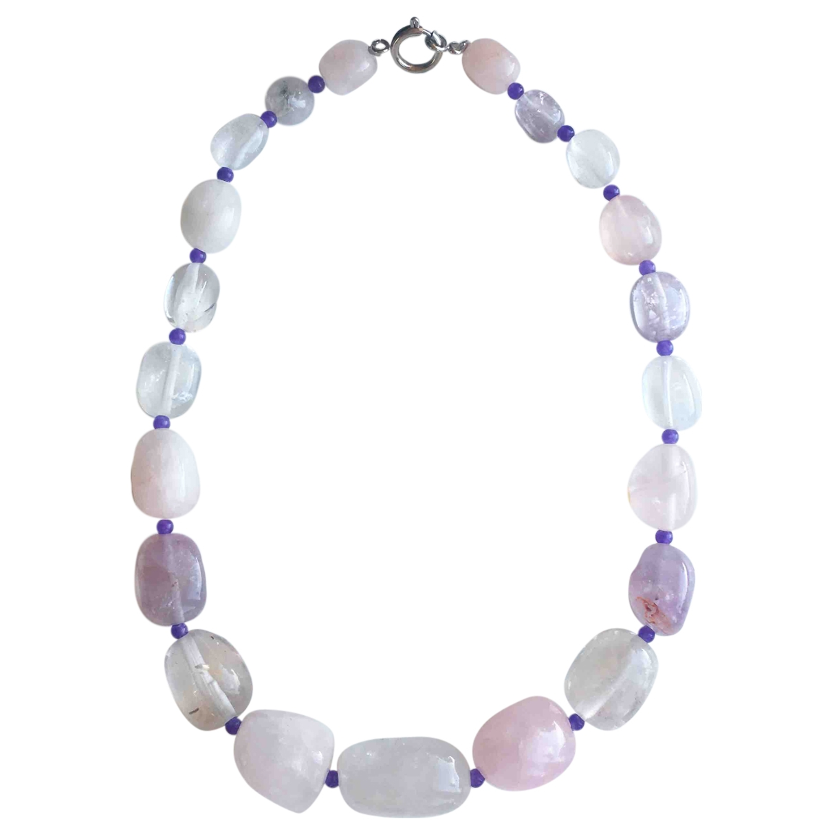 - Collier   pour femme en cristal - rose