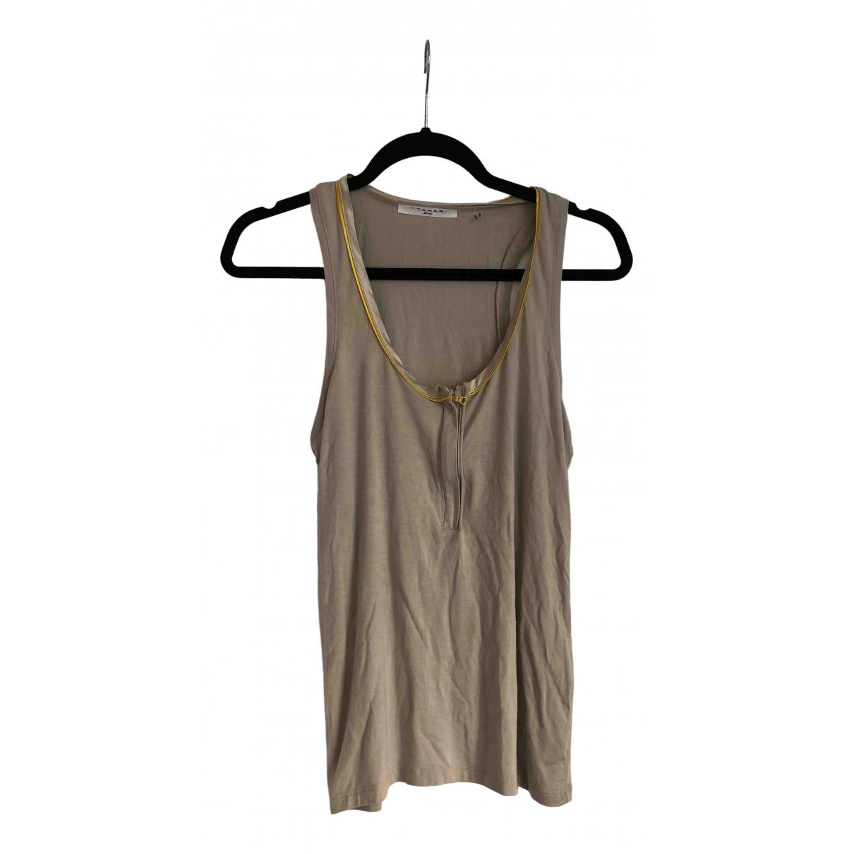 Elie Tahari - Top   pour femme en coton - gris