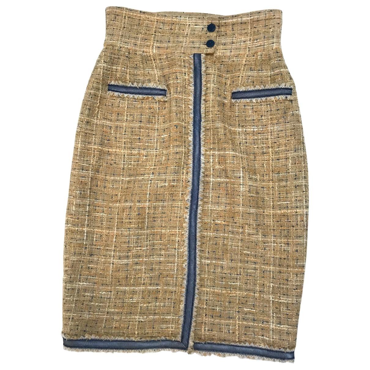 Chanel \N Beige Tweed skirt for Women 38 FR