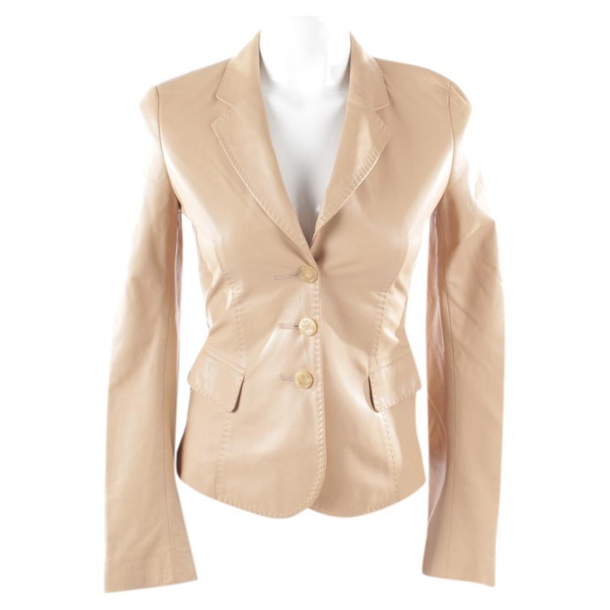 Strenesse - Veste   pour femme en cuir - beige