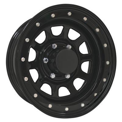 Pro Comp Series 252 Street Lock, 15x8 Wheel with 6 on 5.5 Bolt Pattern - Flat Black 252-5883F