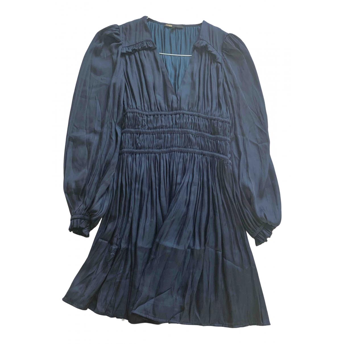 Maje Fall Winter 2019 Kleid in  Blau Viskose