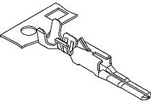 Molex , CP-3.3 Male Crimp Terminal Contact 22AWG 50398-8000 (10000)