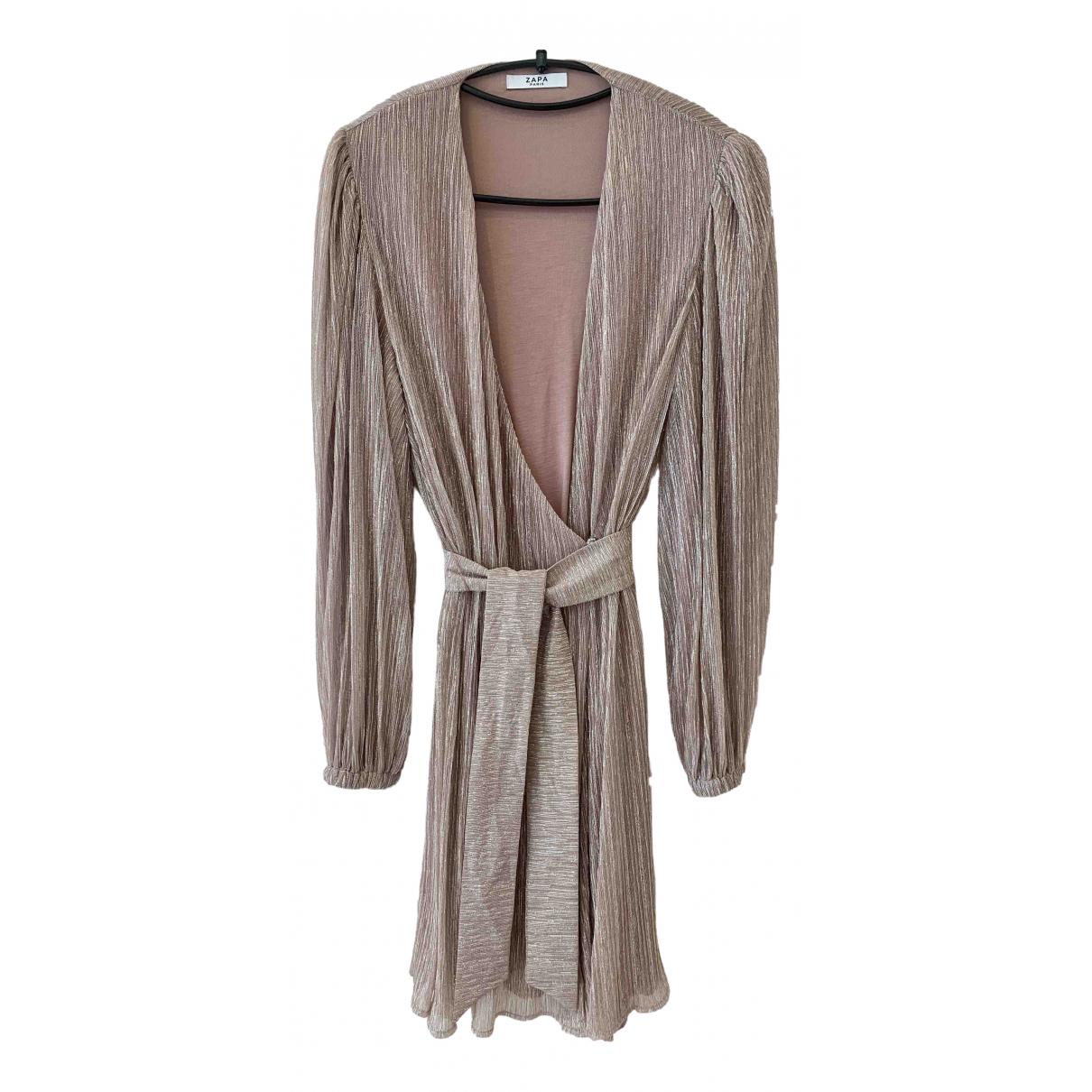 Zapa \N Kleid in  Beige Mit Pailletten