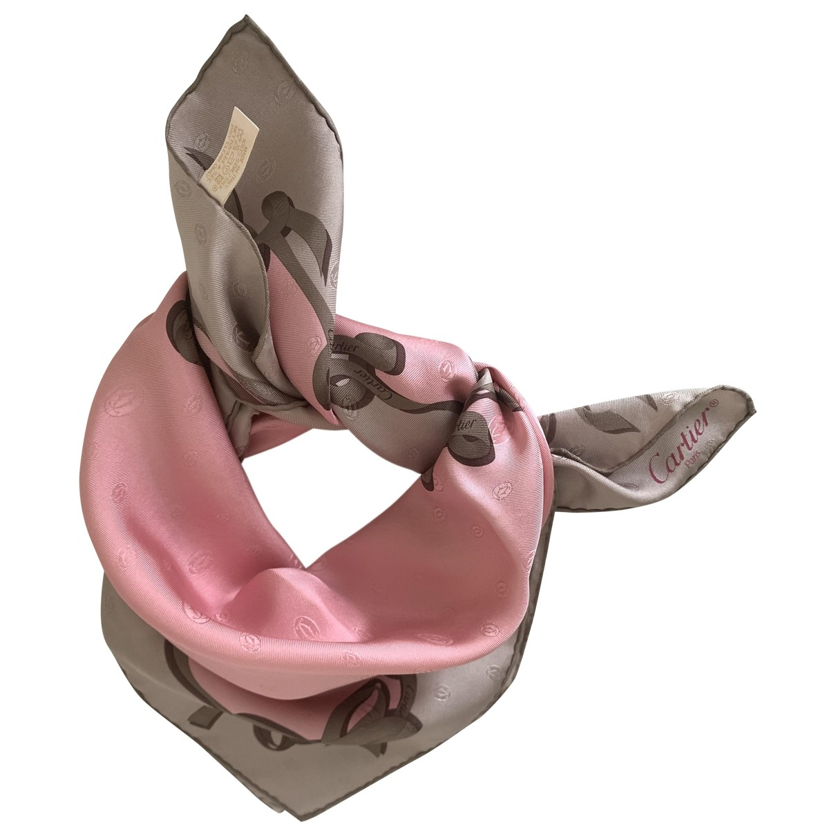 Cartier \N Pink Silk scarf for Women \N