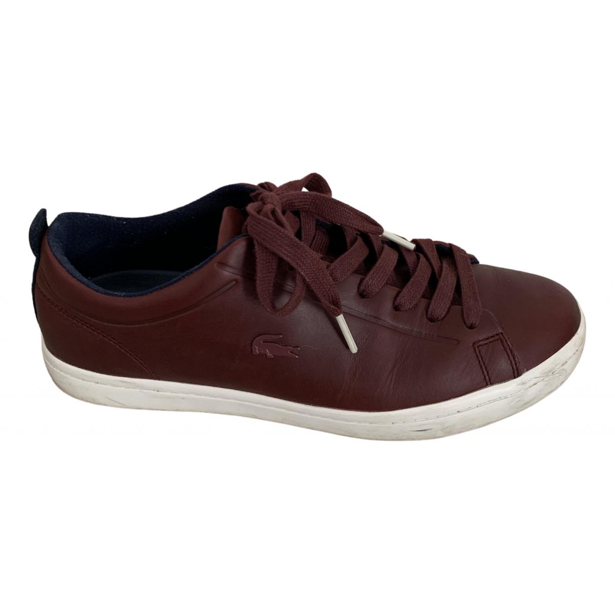 Lacoste \N Burgundy Leather Trainers for Women 41 EU