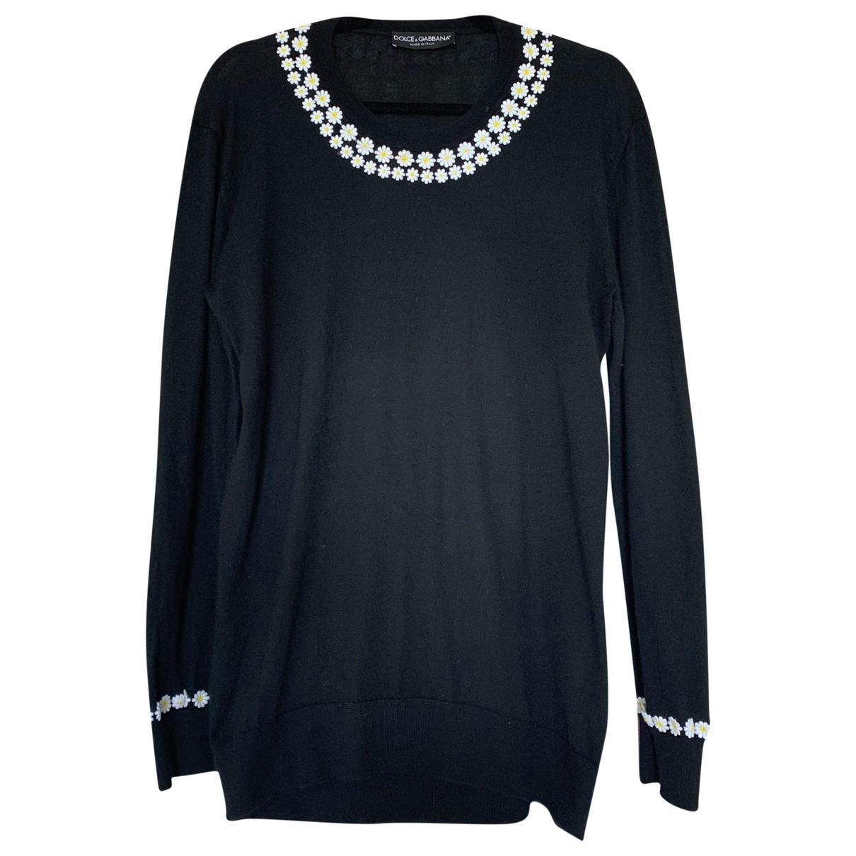 Dolce & Gabbana \N Black Cashmere Knitwear for Women 44 IT