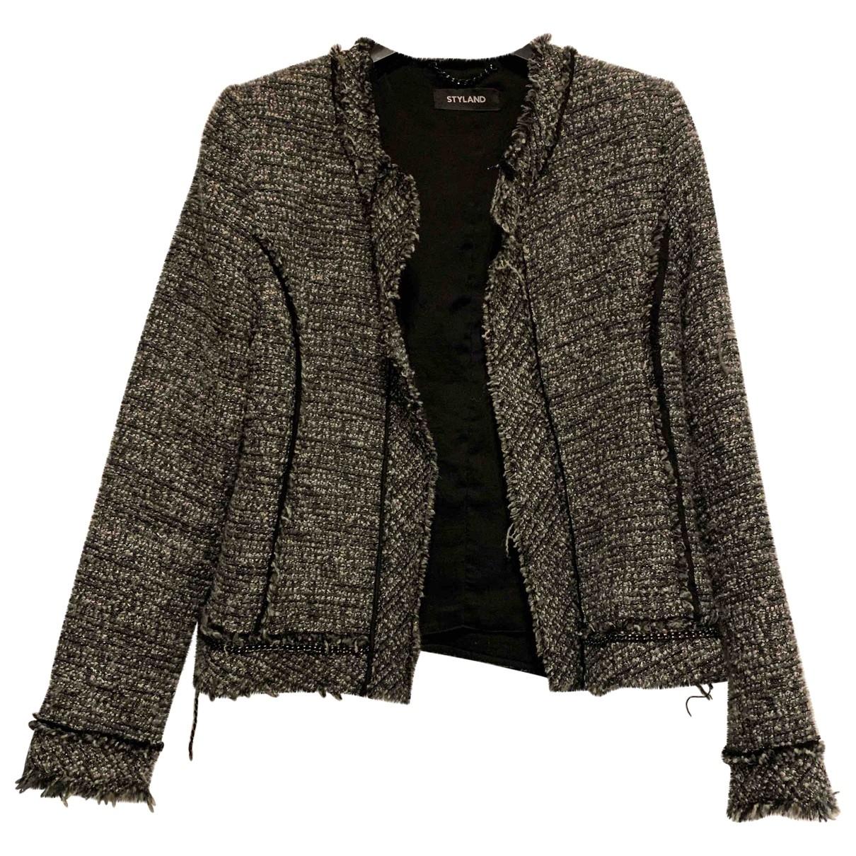 - Veste Epaulettes pour femme en tweed - multicolore