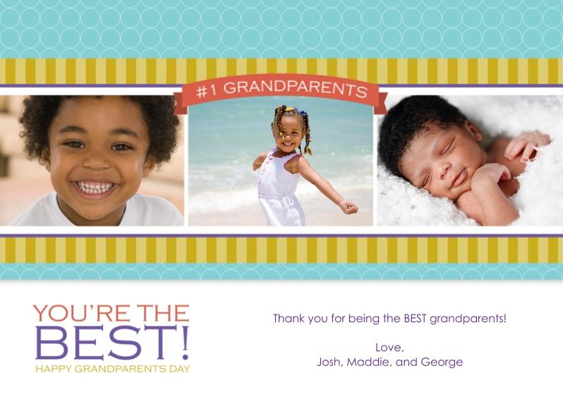 Grandparent's Day 5x7 Cards, Premium Cardstock 120lb with Elegant Corners, Card & Stationery -#1 Grandparents