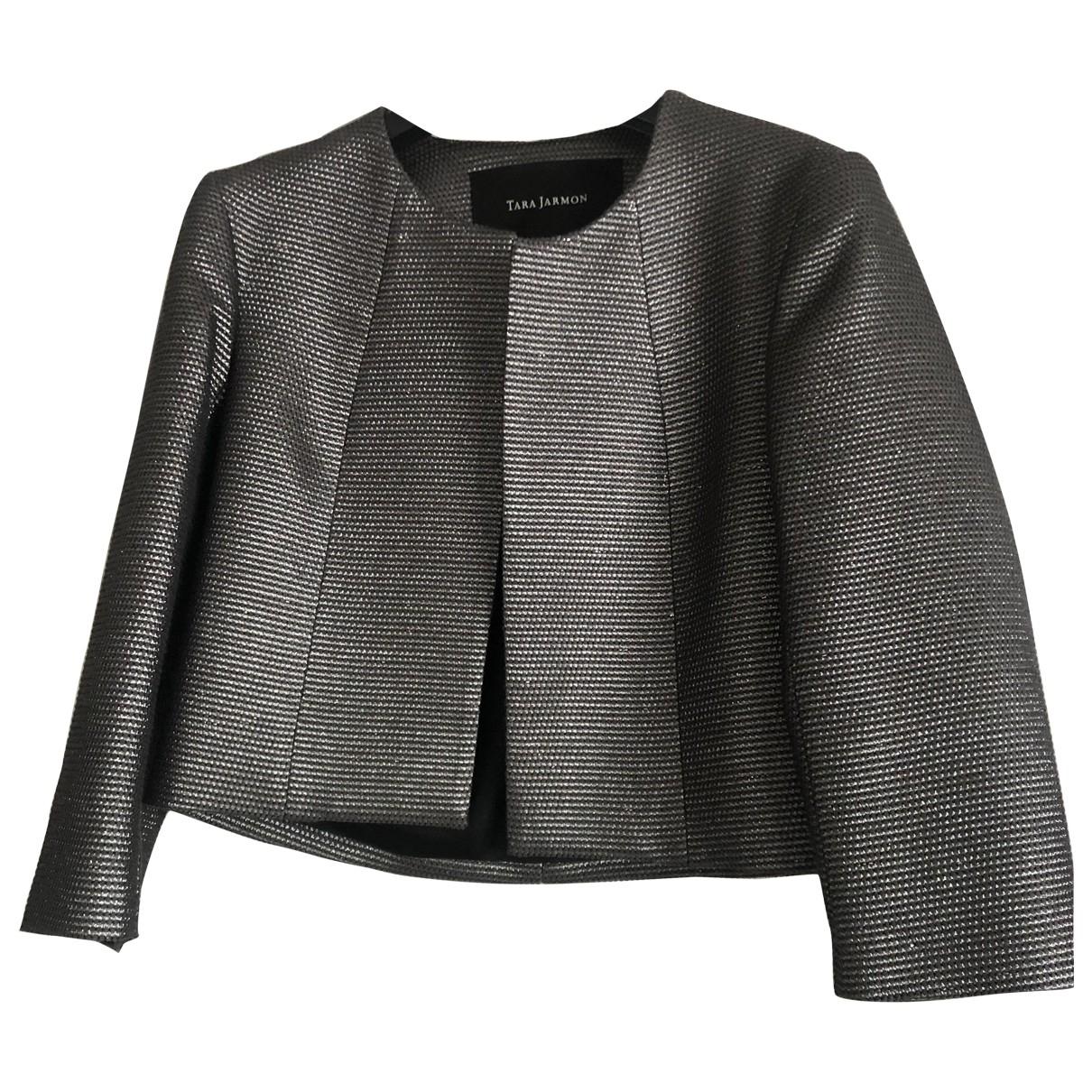 Tara Jarmon \N Silver Cotton jacket for Women 36 FR