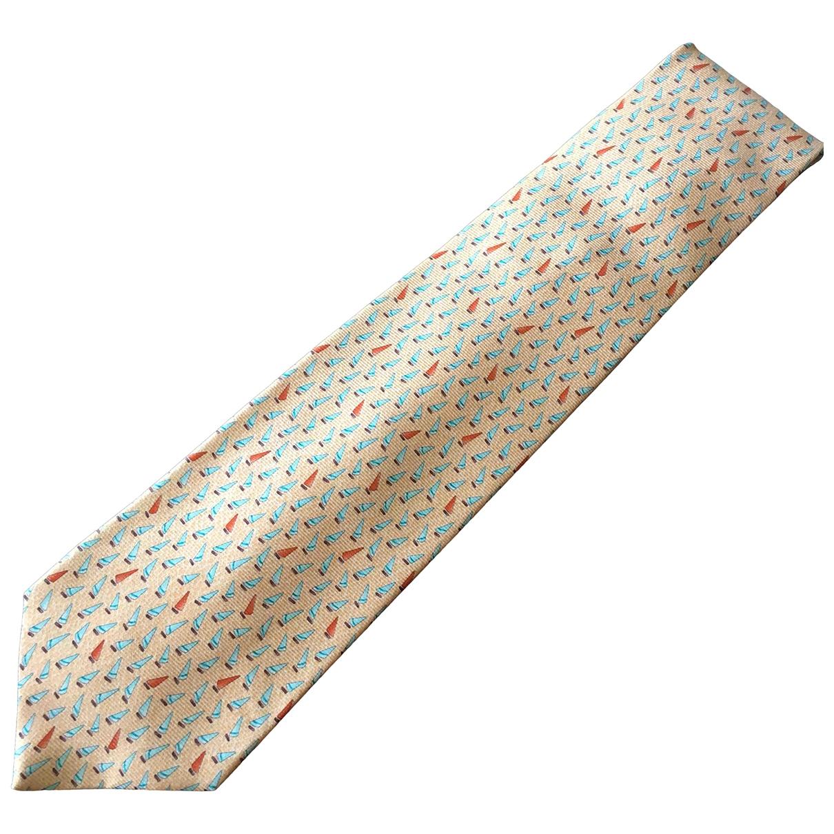 Bvlgari \N Orange Silk Ties for Men \N