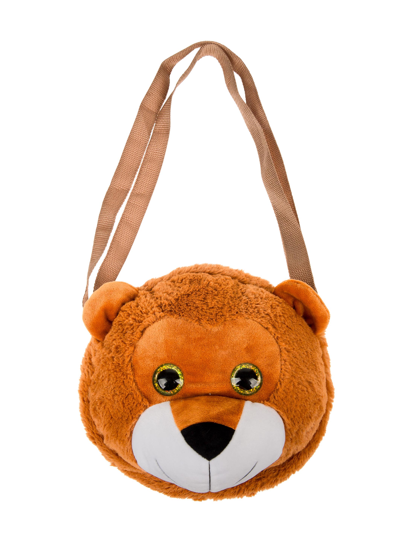 Kostuemzubehor Tasche Baerenkopf Farbe: weiss/braun