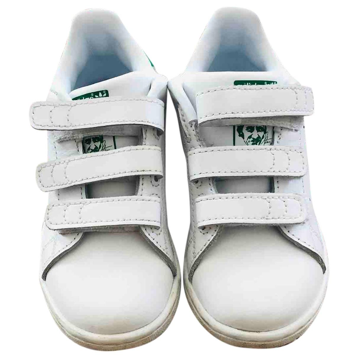 Adidas - Baskets Stan Smith pour enfant en cuir - blanc