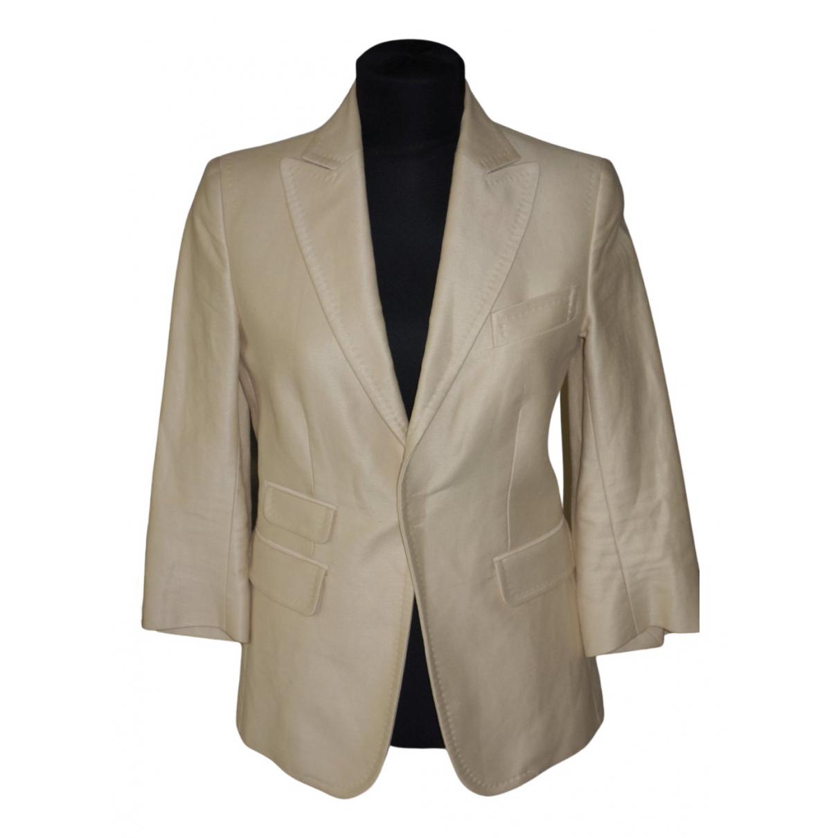 Dsquared2 - Veste   pour femme en laine - beige
