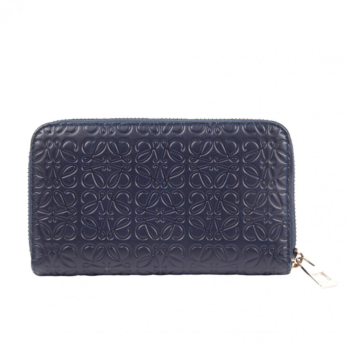 Loewe \N Navy Leather Purses, wallet & cases for Women \N