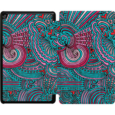 Amazon Fire HD 8 (2018) Tablet Smart Case - Drawing Meditation Turquoise von Kaitlyn Parker