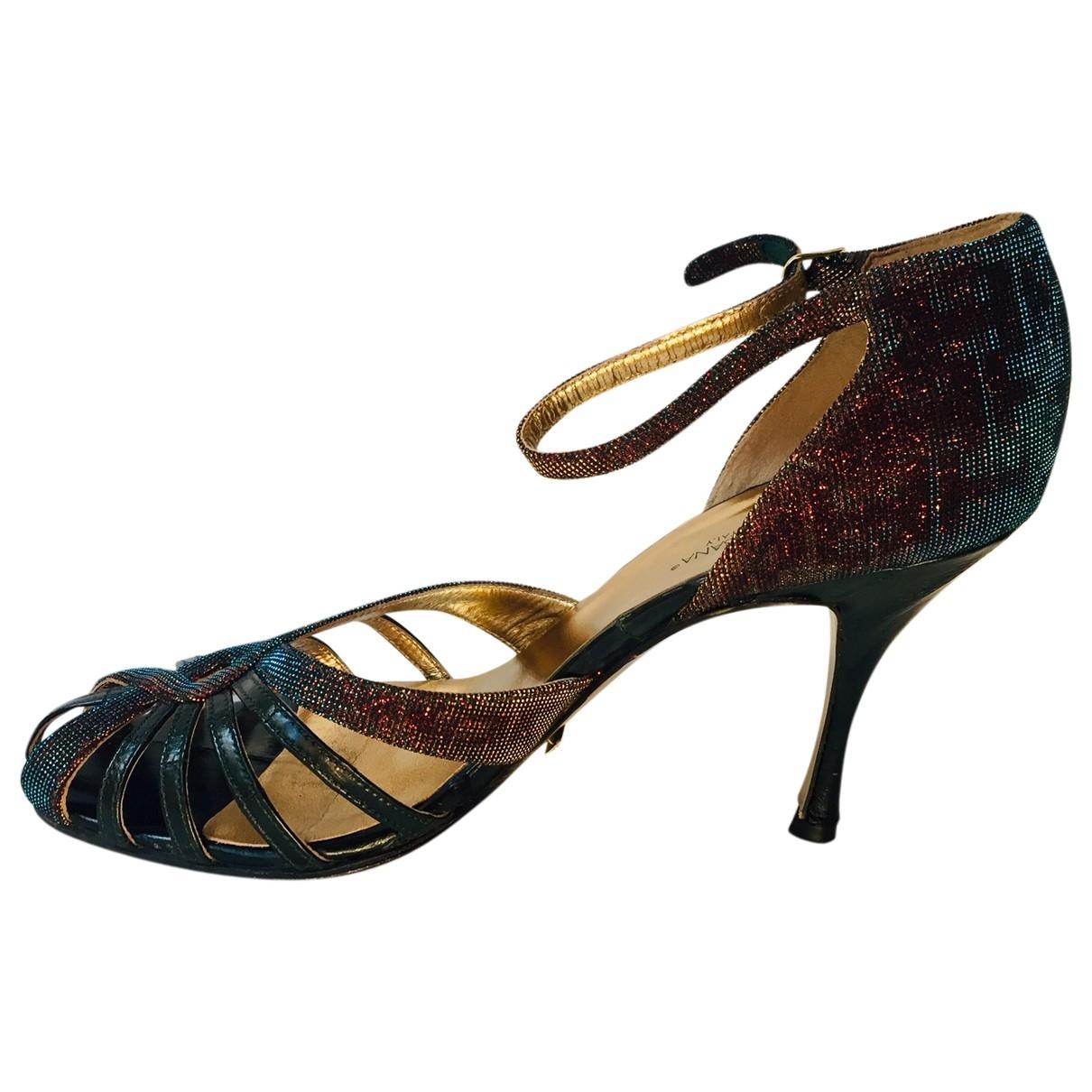 Dolce & Gabbana - Sandales   pour femme en anguille - vert