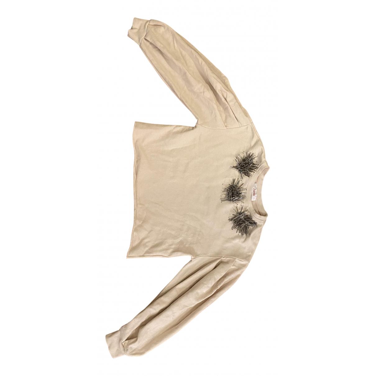Jucca - Pull   pour femme en coton - rose