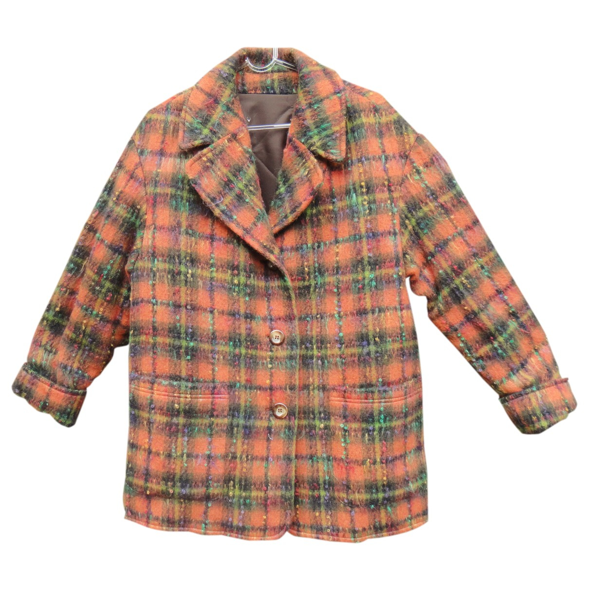Non Signé / Unsigned N Orange Wool jacket for Women 44 FR