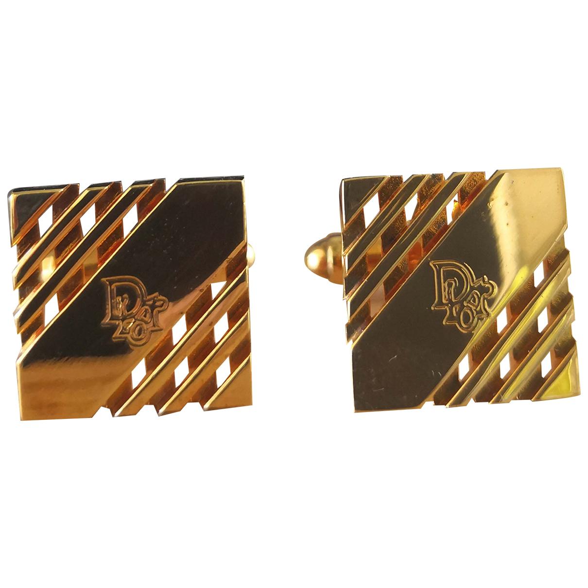 Dior - Boutons de manchette   pour homme en metal - dore