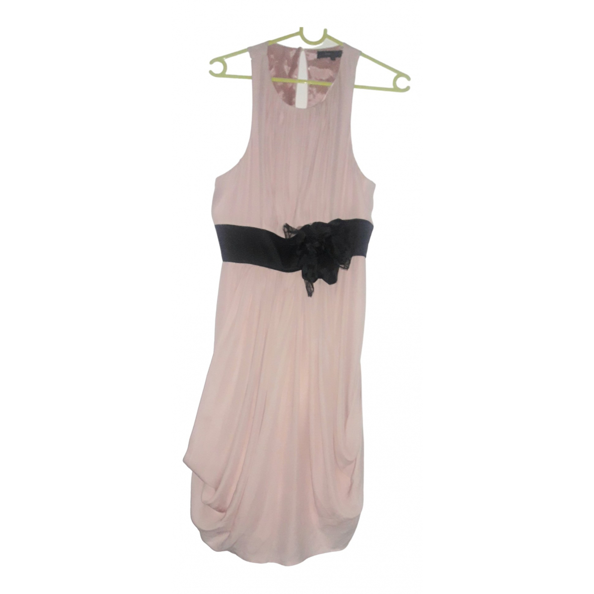 Bcbg Max Azria - Robe   pour femme en soie - rose