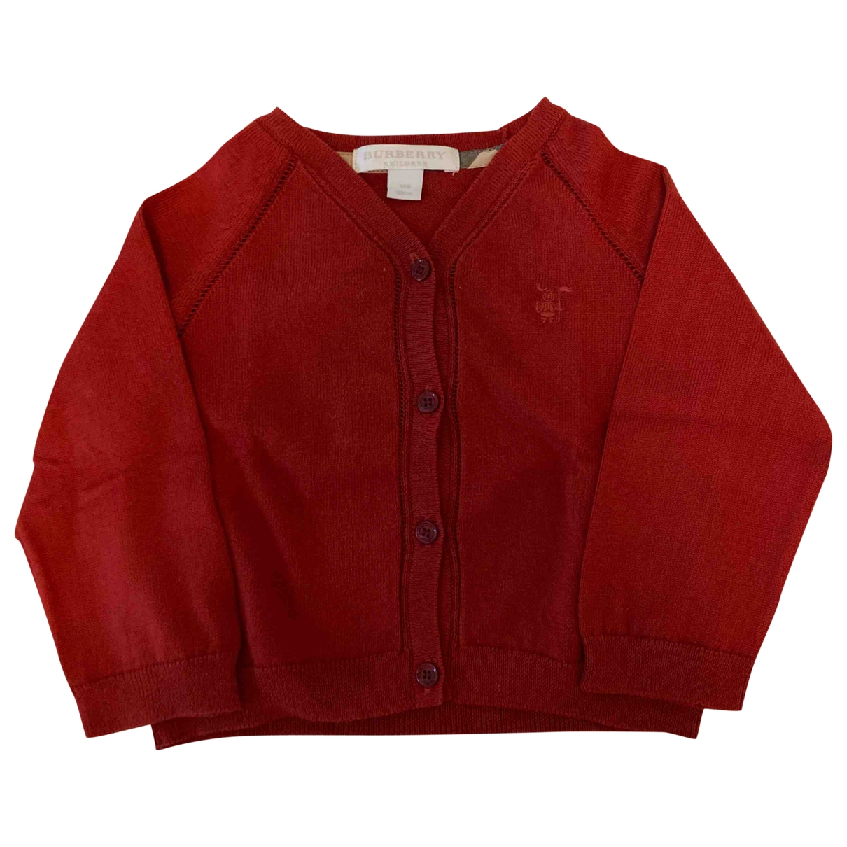 Burberry \N Burgundy Cotton Knitwear for Kids 12 months - until 29 inches UK