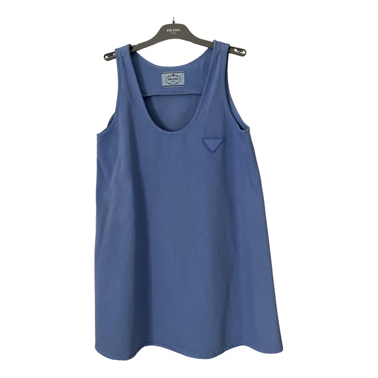 Prada \N Blue Cotton dress for Women 42 IT