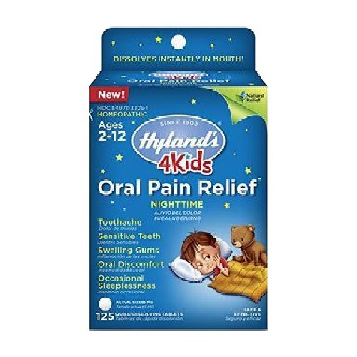 4 Kids Oral Pain Relief Nighttime 125 Tabs by Hylands