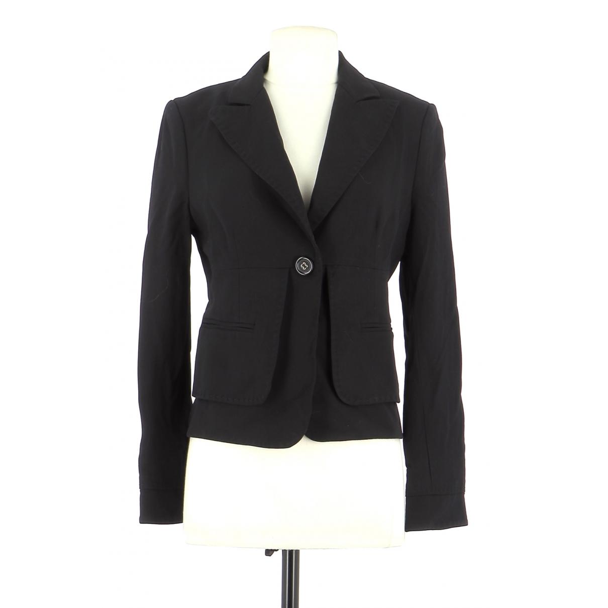 Bcbg Max Azria - Veste   pour femme en cuir - noir