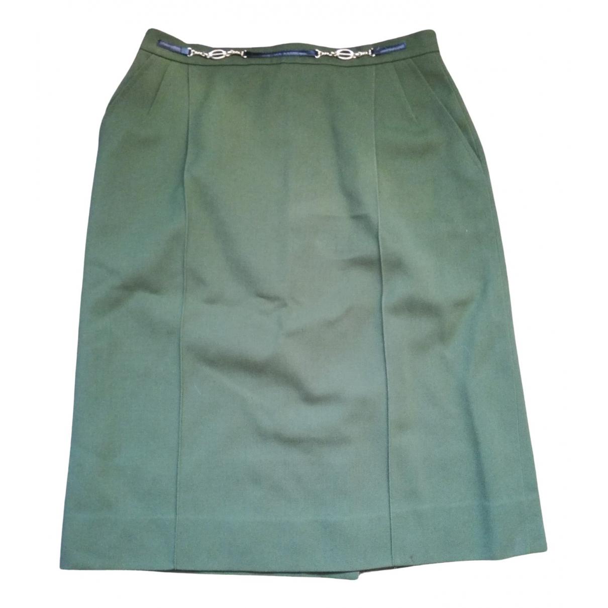 Celine N Green Wool skirt for Women 46 IT