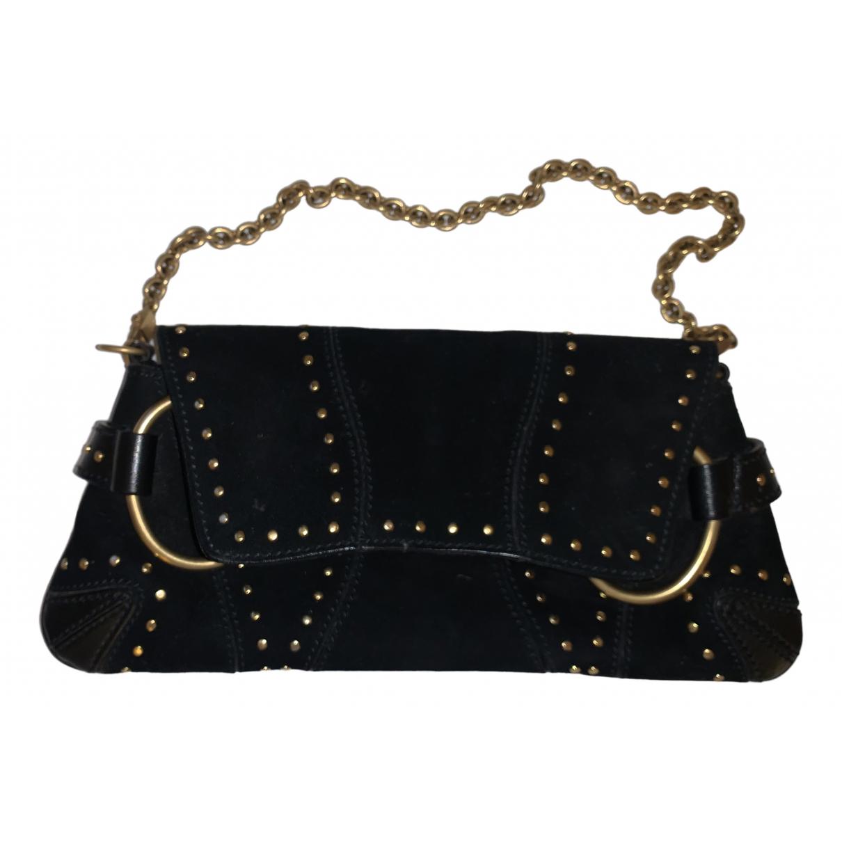 Gucci - Pochette   pour femme en suede - noir