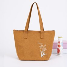 1pc Elk Print Lunch Box Insulation Bag