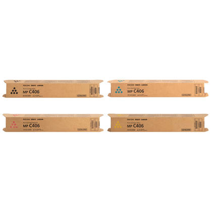Ricoh 842091 842092 842093 842094 Original Toner Cartridge Combo BK/C/M/Y