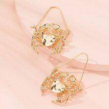 Fashion Crab Hoop Earrings