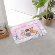 Bodenmatte mit Karikatur Katze Muster