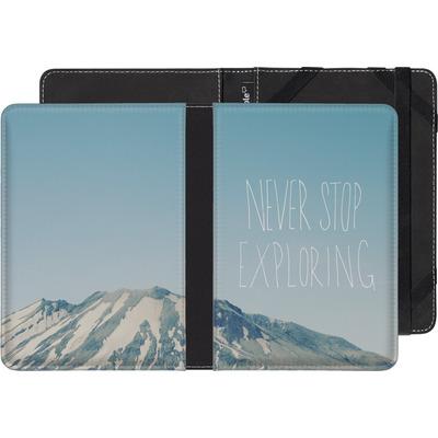 PocketBook Touch 622 eBook Reader Huelle - Never Stop Exploring von Leah Flores